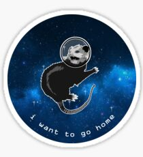Space Possum - Funny Introvert Anxiety Outer Space Design Sticker