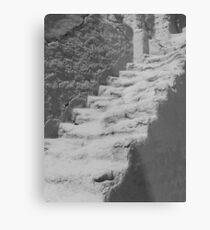Ancient staircase at Bezeklik Thousand Buddha Caves Metal Print