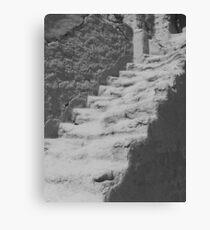 Ancient staircase at Bezeklik Thousand Buddha Caves Canvas Print