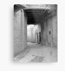 Old town alley in Kashgar Metal Print
