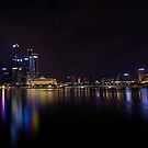 Singapore Night Pano by Paul Campbell  Photography