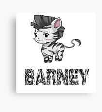 Zebra Barney Canvas Print