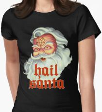 Hail Santa Women's Fitted T-Shirt