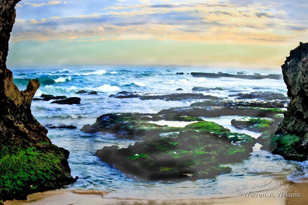 Water Colour Green Rock Bay by Warren. A. Williams