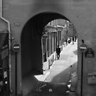 Parisian alley and archway by culturequest