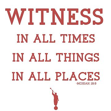 WITNESS OF GOD (maroon) by LDStreetwear