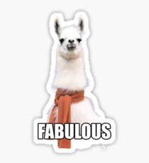 Fabulous Llama Sticker