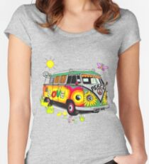 Love bus Women's Fitted Scoop T-Shirt