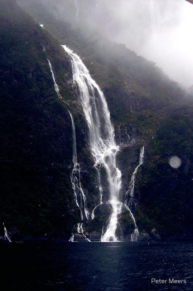 Milford waterfall by Peter Meers