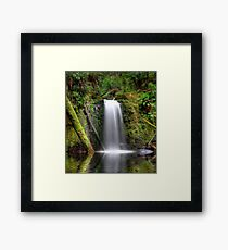 HDR Waterfall Paradise Framed Print