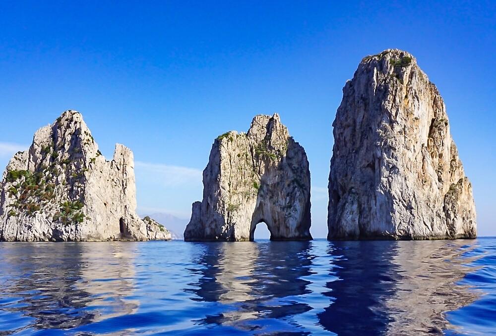 Faraglioni Rocks off the coast of Capri, Italy #art #decor #Italy #Capri #Amalfi by Jacqueline Cooper