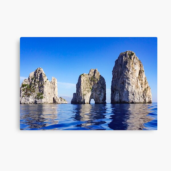 Faraglioni Rocks off the coast of Capri, Italy #art #decor #Italy #Capri #Amalfi Canvas Print