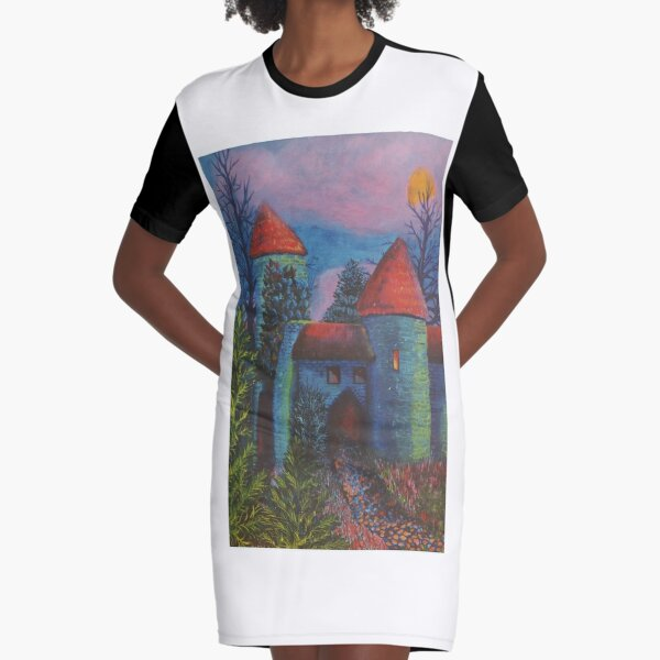 Estonian Adventure Graphic T-Shirt Dress
