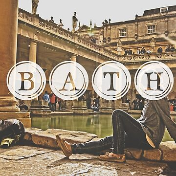 Bath Typography Print by AndAndy