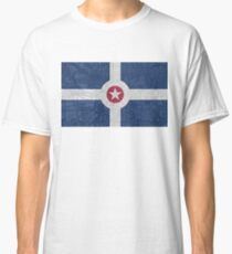 Indianapolis City Flag/Map Classic T-Shirt