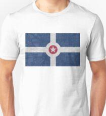 Indianapolis City Flag/Map Unisex T-Shirt