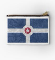Indianapolis City Flag/Map Studio Pouch