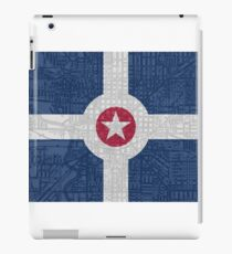 Indianapolis City Flag/Map iPad Case/Skin