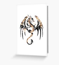 Wings of smoke and flame Greeting Card