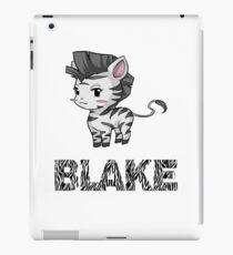 Zebra Blake iPad Case/Skin