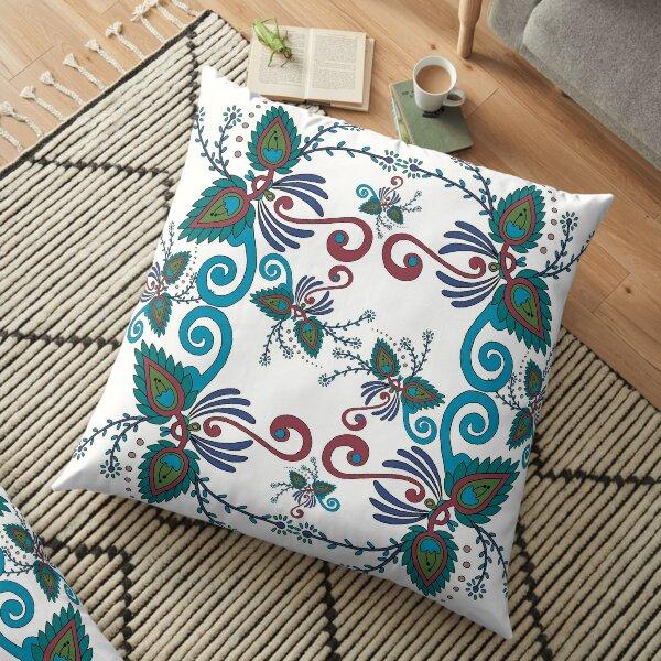 57 Decoration blue-green Floor Pillow