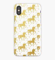 Gold Unicorn Pattern iPhone Case/Skin