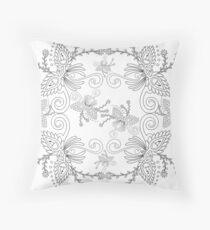 57 Decoration on white Throw Pillow