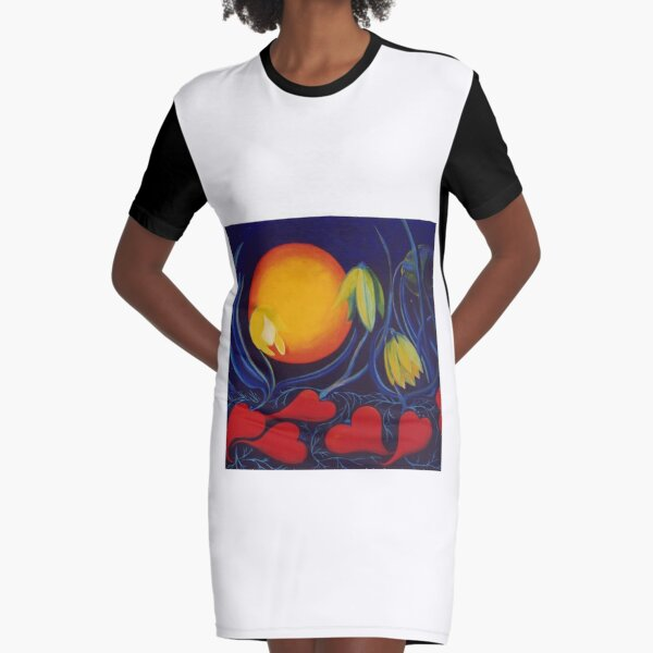 The Love of a Flower Graphic T-Shirt Dress