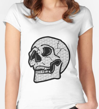 Poker Skull Fitted Scoop T-Shirt