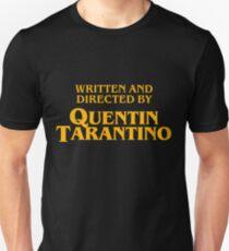 Camiseta unisex Escrito y dirigido por la camisa quentin tarantino
