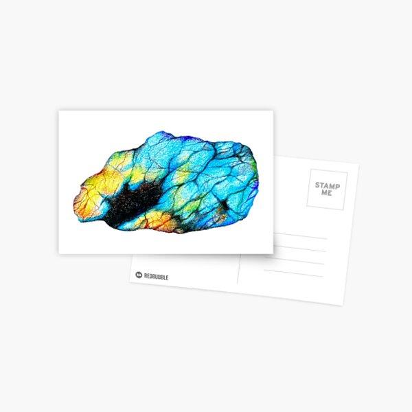 Raw labradorite crystal gem Postcard