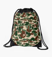 BAPE OG Green Camo Drawstring Bag