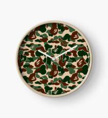 BAPE OG Green Camo Clock