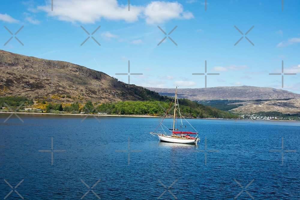 Boat on Loch Linnhe by SiobhanFraser