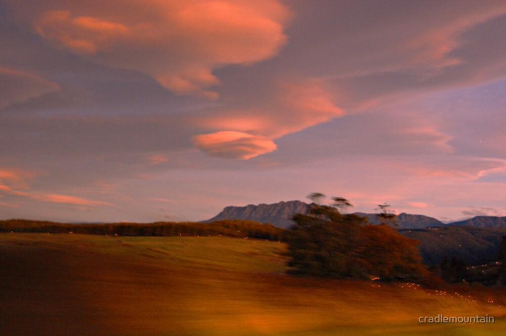 'Going Home' Mount Rowland Evening by cradlemountain