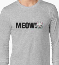 MEOW! (Text) Long Sleeve T-Shirt