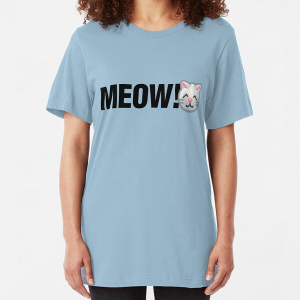 MEOW! (Text) Slim Fit T-Shirt