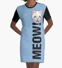 MEOW! (Text) Graphic T-Shirt Dress