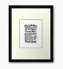 May You Stay Forever Young Framed Print