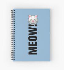 MEOW! (Text) Spiral Notebook