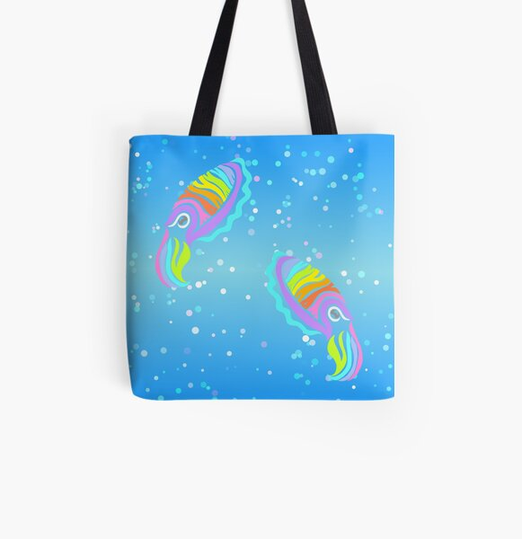 Deep-sea Neon - Tribalish Cuttlefish All Over Print Tote Bag