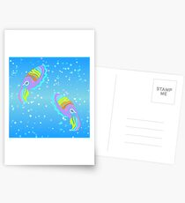 Deep-sea Neon - Tribalish Cuttlefish Postcards