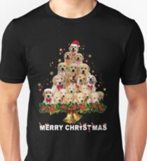 MERRY CHRISTMAS TSHIRT, Dog Shirt Cute Golden retriever Merry Christmas Shirt  Unisex T-Shirt
