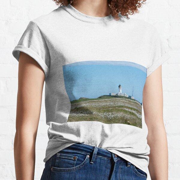 Lighthouse behind Bog Cotton Classic T-Shirt
