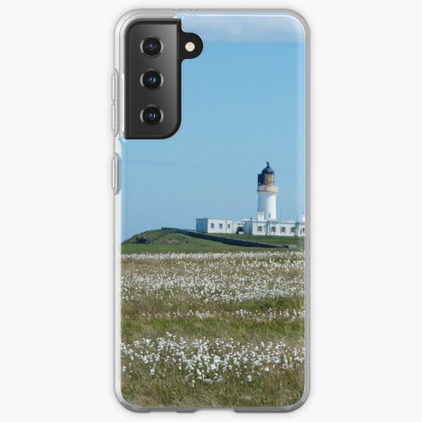 Lighthouse behind Bog Cotton Samsung Galaxy Soft Case