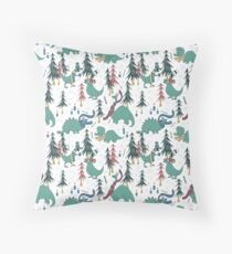 Dinosaur Hygge Throw Pillow