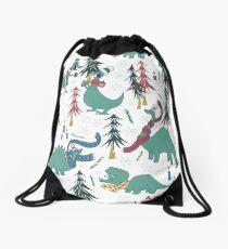 Dinosaur Hygge Drawstring Bag