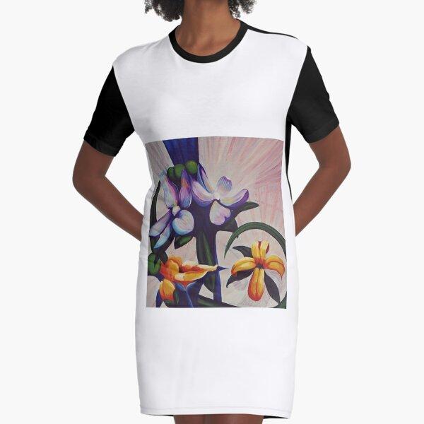 Flower Light Graphic T-Shirt Dress