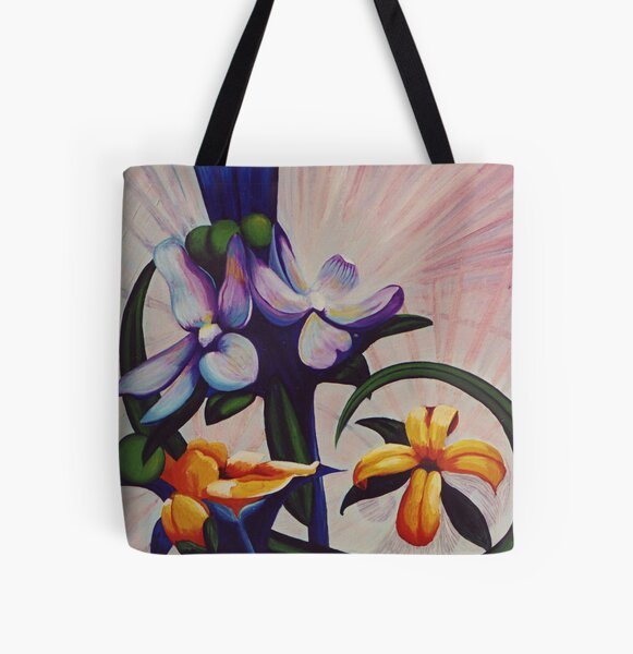 Flower Light All Over Print Tote Bag