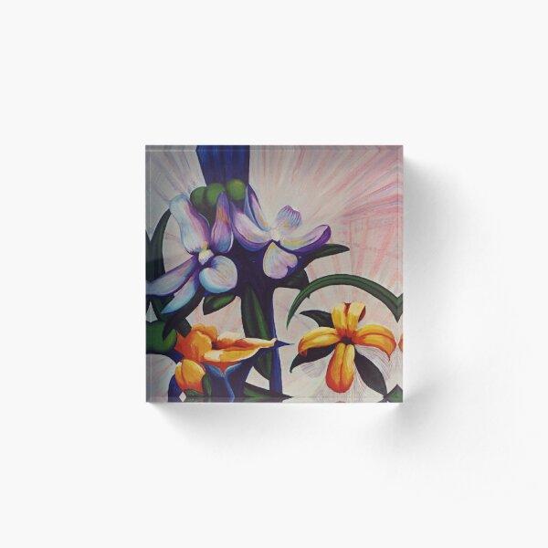 Flower Light Acrylic Block